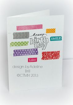 Washi tape wonder card