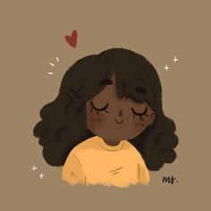 better drawing I'm trying my best to learn how to color dark skin better and yes, I love to draw cute girls with closed eyes ❤️ - Cartoon Art Styles, Cute Art Styles, Cartoon Drawings, Cute Drawings, Arte Copic, Character Illustration, Illustration Art, Arte Indie, Character Art