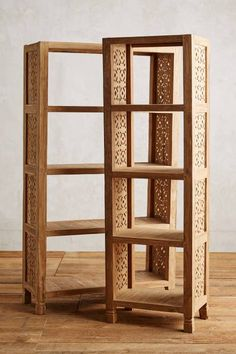 Handcarved Fretwork Narrow Bookcase #anthroregistry