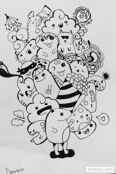 Pin by loh stephanie on doodles in 2019 Doodle Art Letters, Cute Doodle Art, Doodle Art Designs, Doodle Art Drawing, Doodle Art Journals, Cool Art Drawings, Art Sketches, Doodle Ideas, Simple Doodles