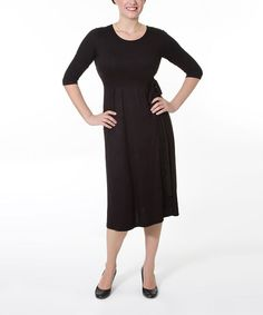 Black Rodest Maternity & Nursing Dress - Women