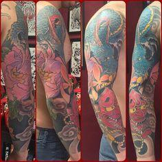 #tatuaggio #tattoo #tattoolife #japanese #japanesetattoo #japan #japanesetraditionaltattoo #orientaltattoo #eikontattoo #eikontattoostudio #horimono #irezumi #tebori #hannyamask #hannyatattoo #ryu #dragontattoo #botan #peony #peonia #momiji #mylife #novara #hustlebutterdeluxe #hustlebutter #893
