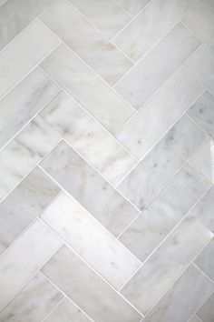 This: Herringbone Marble Tile (A Beautiful Mess) Try This: Herringbone Marble Tile (A Beautiful Mess).Photo from Katharina KayTry This: Herringbone Marble Tile (A Beautiful Mess).Photo from Katharina Kay Bathroom Floor Tiles, Kitchen Tiles, Tile Bathrooms, Bathroom Marble, Small Bathrooms, Shower Floor, Shower Stalls, White Bathroom, Stone Bathroom