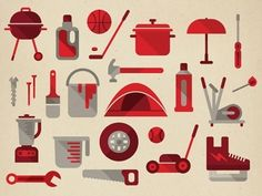 Dribbble - Various store goods by Studio Muti    #pictogrammes