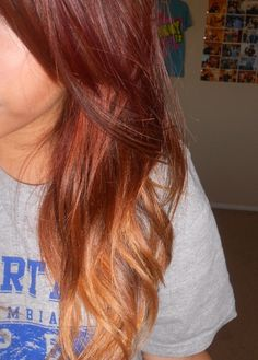 red ombre...once my hair grows out again
