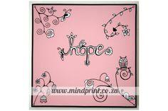 Canvas Print 20cm x 20cm - Hope by MindPrint Designs Canvas Prints, Pink, Designs, Typo, Pastels, Painting, Florals, Color, Store