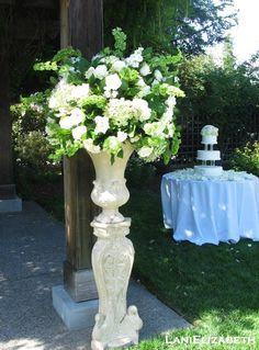 wedding urn flower arrangements   ceremony arrangement! Lani Elizabeth - Ceremony, Wedding Flowers, Urns ...