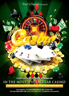 Casino Flyer Template by That's Design, via Behance