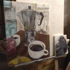 Coffee in the studio.