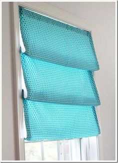 No-Sew Roman Shades | DIY Roman Shades Sewing Ideas