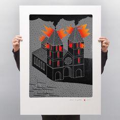 "Karol Pomykała on Instagram: ""💔#notredameparis ————————— . . . #paris #notredamedeparis #catedralnotredame #notredameart"" Various Artists, Polaroid Film, Prints, Instagram, Block Prints, Artists"