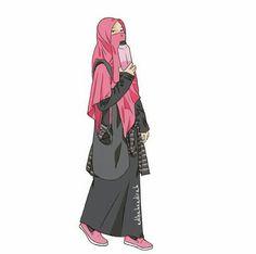 I love islam Anime Muslim, Muslim Hijab, Beautiful Muslim Women, Beautiful Hijab, Muslim Girls, Muslim Couples, Hijab Drawing, Capsule Wardrobe Essentials, Islamic Cartoon