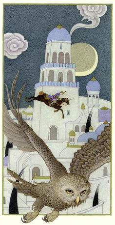 Olga Dugina, One Thousand and One Nights  (Watercolours, Colourd Pencils & Gouache)