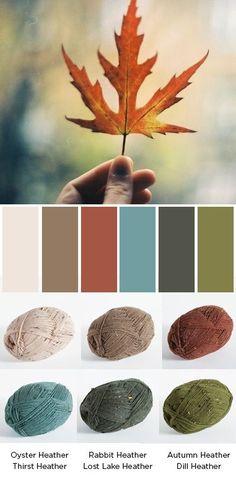 Stroll Tweed Color Palettes http://www.knitpicks.com/yarns/Stroll_Tweed_Sock_Yarn__D5420150.html