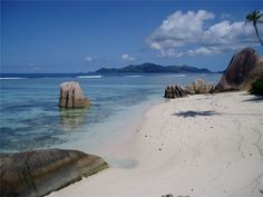 Anse Source d'Argent, La Digue's beach, La Digue, lying east of Praslin and west of Felicite Island, Seychelles