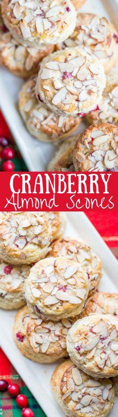 Cranberry Almond Scones - lightly sweet with a big almond flavor   www.savingdessert...