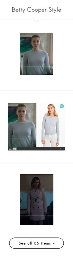 """""""Betty Cooper Style"""" by demiwitch-of-mischief ❤ liked on Polyvore featuring riverdale, bettycooper, outerwear, coats, camel coat, tops, sweaters, cardigans, grey cable knit sweater and cable sweaters"""