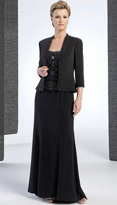 Elegant Champagne Chiffon Mother Of The Bride Pant Suits