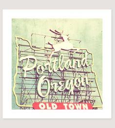 "City Deer Sign, Portland Photo Print | Print titled ""Portland Deer."" Original photograph of the Portl... | Photographs"