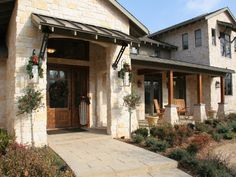 Texas hill country home design stone house floor plans for Texas hill country house plans porches