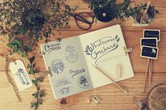 Stationery Mock Up - Garden by Qeaql on Creative Market Business Brochure, Business Card Logo, Cool Stationery, Type Treatments, Logo Design, Graphic Design, Scene Creator, Creative Sketches, Paint Markers