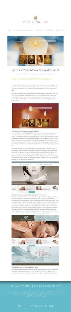Day Spa Website Design samples by Petersonlive. http://petersonlive.com/day-spa-website-design-for-smartphones/