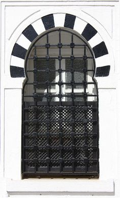 Black&White    The typical Tunisian window, white and black.