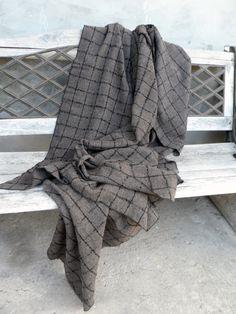 Скандинавский Чистая шерсть бросок одеяло клетчатые Брауна от NordiskLiv