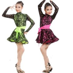 Cheap kids vintage dress, Buy Quality kids sweater dress directly from China dress lilac Suppliers:       Students Latin Dancewear Competition Dancing Clothing Performance Dance Costume Child Latin Ballet Dance Dress For