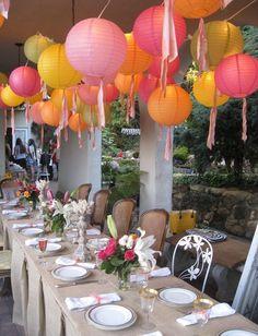 Paper Lanterns as Decoration