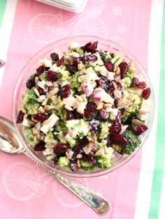 Chopped Broccoli Salad with Dried Cherries and Feta | The Suburban Soapbox