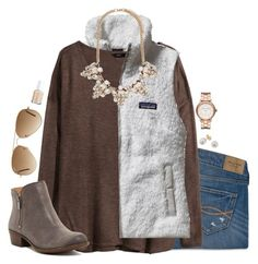 mocha color palette... by simplysarahkate on Polyvore featuring H&M, Patagonia, Abercrombie & Fitch, Lucky Brand, Forever 21, Marc Jacobs, Other, Ray-Ban and Essie