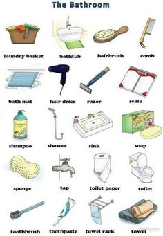 English vocabulary : the bathroom English Time, English Course, English Study, English Class, English Words, English Lessons, Learn English, English Idioms, English Vocabulary