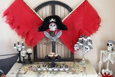 how to make a pirate backdrop