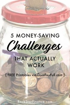 5 Money-Saving Challenges That Actually Work #dontpayfull #rockstarfinance #savings #challenge