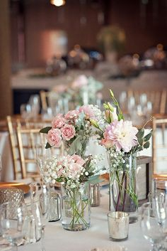 Vintage glam wedding centerpiece