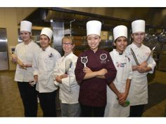 The La Quinta High School culinary team from left to right: Madison Ries; Cesar Acuna; Sheri Tucker, director of the Culinary Arts Institute...