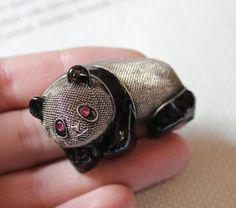 Vintage Chinese Silver Panda Brooch Pendant | eBay