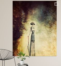 Neu in meiner Galerie bei OhMyPrints: VINTAGE FASHION LADY IN ABSTRACT FOREST