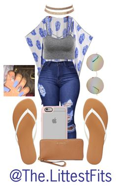 A fashion look from April 2017 featuring grey shirt, high rise jeans and fringe kimono. Browse and shop related looks. Swag Outfits For Girls, Cute Swag Outfits, Teenage Girl Outfits, Teen Fashion Outfits, Teenager Outfits, Dope Outfits, Look Fashion, Stylish Outfits, Summer Outfits