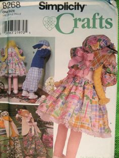 Simplicity 8268 New Pattern Time Out Boy Girl Doll Bunnies