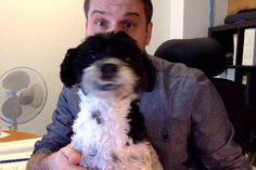Getting some help this AM at my desk