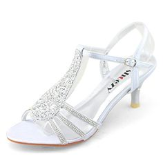 "cool SHOEZY New Women Ladies Low Heels Wedding Prom Shoes Diamant Strappy Sandals Silver Size US 8 -Plz do check size chart on Gallery Photo or contact us for actural measurement! Sent from China! EASY RETURN before bad feedback or claim! Heel:6.8cm/2.6"" -http://weddingdressesusa.com/product/shoezy-new-women-ladies-low-heels-wedding-prom-shoes-diamant-strappy-sandals-silver-size-us-8/"