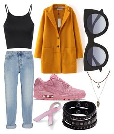 """mustaard"" by tibba ❤ liked on Polyvore featuring Bling Jewelry, MiH Jeans, Charlotte Russe, Glamorous, NIKE, Thierry Lasry and Replay"
