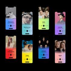 Elena Saharova on Behance - Design Mobile Ui Design, App Ui Design, Interface Design, User Interface, App Design Inspiration, Music App, Branding, Photoshop, Interactive Design