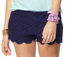 Lilly Pulitzer Walsh Eyelet Short in True Navy- flattering short shorts!