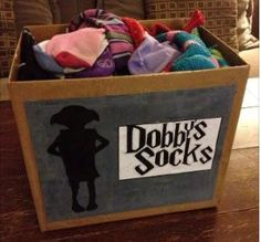 This is the cutest idea for a box of sock survivors after the washer and dryer steals one. My duaghter and I use to have sock matching sessions a few times each year to try and get mates together from all the sock drawers and the single sock bag from the laundry room.