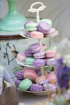 Macarons in mauve and pink are so girly.