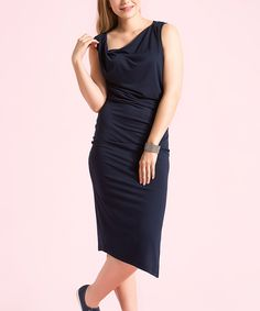 Look what I found on #zulily! I'm In Navy Ruched Sheath Dress by I'm In #zulilyfinds