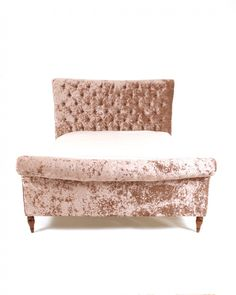 Fully upholstered in luxurious fabric with plush deep buttoning, this decadent Jasper High End Bedframe will add enormous elegance to your bedroom decor. Bed Frame, Jasper, Love Seat, Accent Chairs, Upholstery, Bedroom Decor, Plush, Beds, Furniture